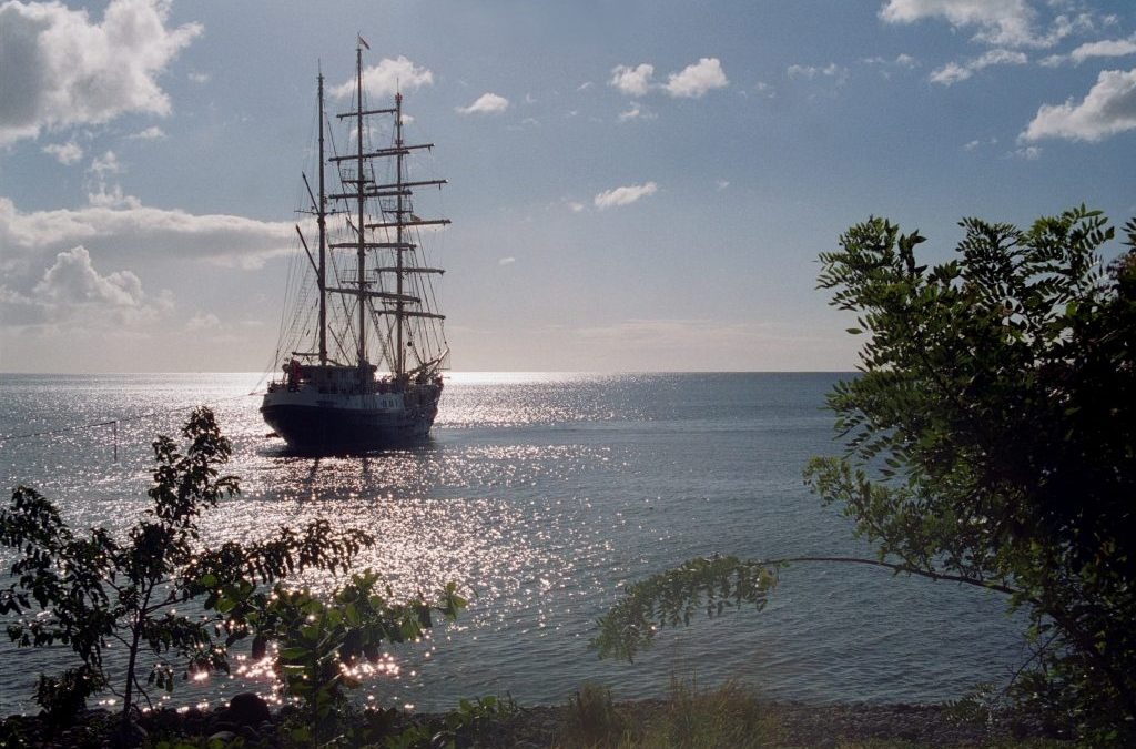 Sailing without sight to Antigua