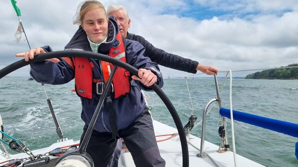 Kate swaps dry land for a sailing adventure!